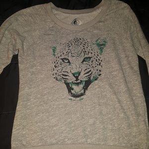EUC L Volcom Cheetah Sweatshirt